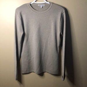 Emporio Armani lambs wool long sleeve shirt